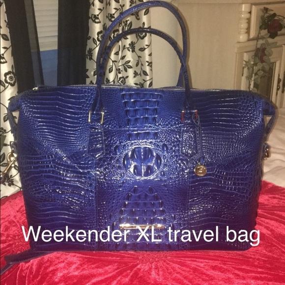 f754838f Brahmin Bags | Duxbury Weekender Sapphire Bagnwt | Poshmark